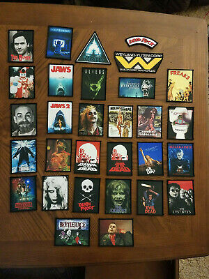 Assorted Sew Iron on Horror Movie Patches Free Shipping