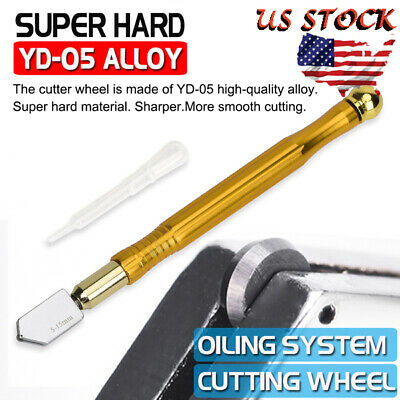 Professional Glass Cutter Oil Lubricated Tungsten Carbide Precision Glasses Tool
