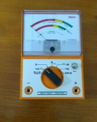 vintage RCA Battery Tester – WT-537A –  plus 6-panel manual - good working order