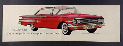 1960 Chevrolet Chevy Impala Bel Air Biscayne Corvair & Wagons vintage print Ad