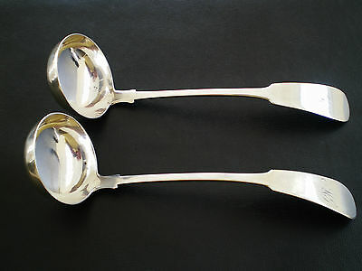 Pair Antique Scottish Provincial Silver Toddy Ladles c1839 - R & R Keay of Perth