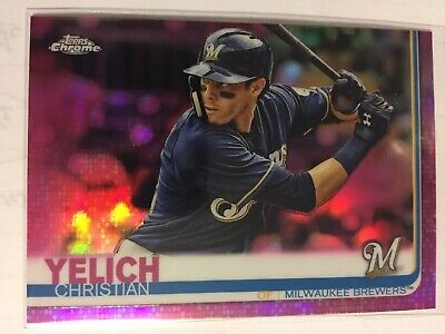 CHRISTIAN YELICH 2019 Topps Chrome Pink Refractor Milwaukee Brewers