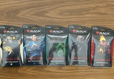 MTG 5x Sealed Core 2020 Theme Boosters Complete Set Lot FREE & FAST SHIPPING