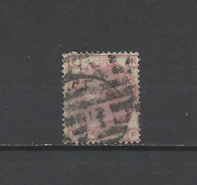 British Queen victoria old stamp 3 penny red SG144 spray w/mark plate 16