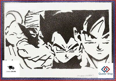 Poster Dragon Ball Goku Vegeta Piccolo Bu Affiche Street Art