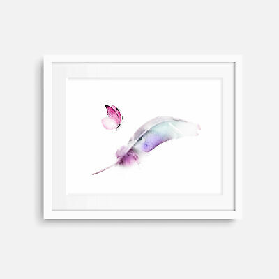 Feathers ART PRINT POSTER Contemporary Modern Wall Minimalist Landscape Portrait