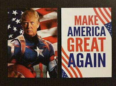 Lot of 5 Donald Trump Captain America MAGA  custom ACEO parody cards