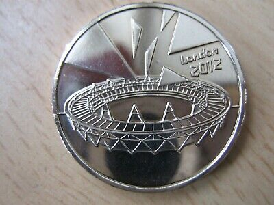Genuine London 2012 Olympic 50p Completer Medallion Coin Hunt