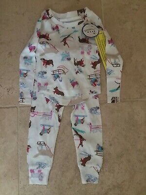 BNWT Girls Joules Long Sleeve Ski Dog Pyjamas Age 1