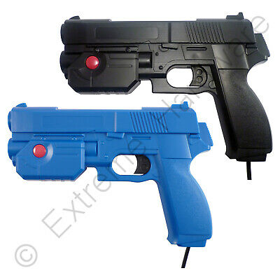 2 x Pack Ultimarc AimTrak Blue/Black Arcade Light Guns with Line of Sight Aiming