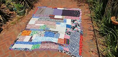 Vintage patchwork lightweight quilt coverall