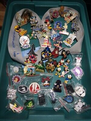 Disney Trading Pins Lot of 50 Some Vinylmation Lanyard Self Portrait Etc.