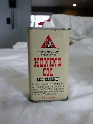 Vintage Indian Mountain Honing Oil Advertising Tin CAn