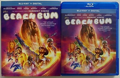 The Beach Bum Blu Ray + Digital New Sealed! With Slipcover!!