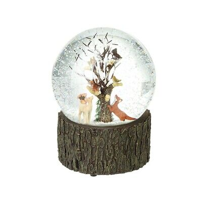 Heaven Sends Woodland Animals Design Musical Snowglobe - Friends Christmas Gift