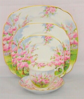 1-Royal Albert Blossom Time 5 Piece Place Setting England ( 7 Available )