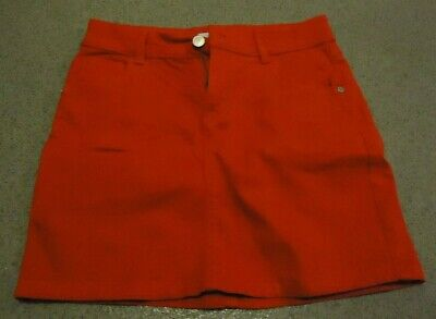 M&S Button & zip front fastening Red Skirt age: 9/10 years