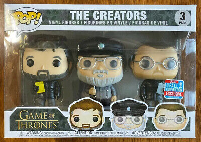Funko Pop! Game of Thrones The Creators 3 Pack 2018 NYCC / B&N Shared Exclusive
