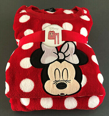 Disney Minnie Mouse Damen Pyjama Schlafanzug Fleece Hausanzug Mickey Maus XS-XL