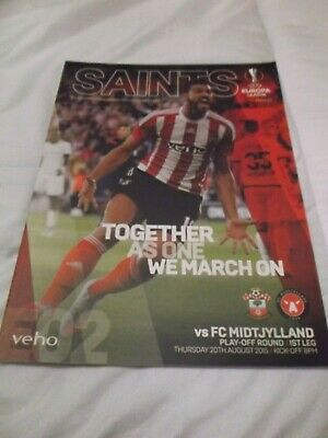 MINT CONDITION SOUTHAMPTON v FC MIDTJYLLAND  EUROPA LEAGUE 2015/2016