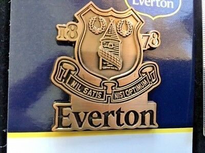 New Authentic Large Everton Fc Football Club Pin Badge Official Design Gift