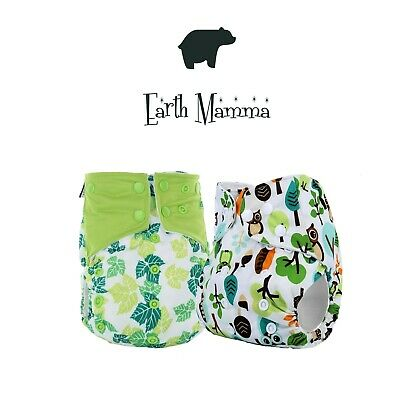 7-16lbs; choose your colours 10 x Bamboo shaped reusable nappies GREAT VALUE!!