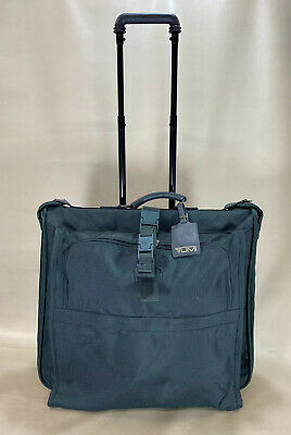 "Preowned Tumi USA Green Ballistic Nylon 21"" Wheeled Away Rolling Garment Bag"