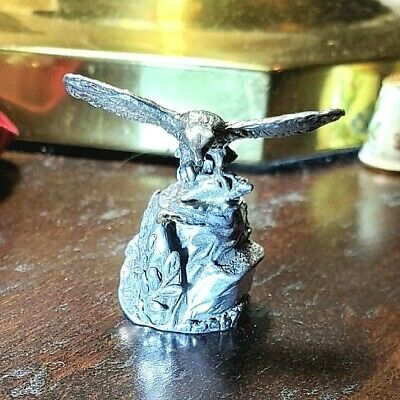 American Eagle Pewter Thimble