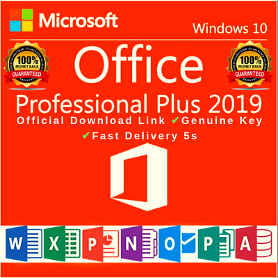 Microsoft Office 2019 Professional Plus Lifetime License Instant Delivery.