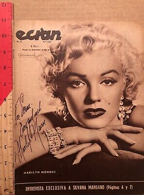 Stunning Marilyn Monroe ECRAN #1221 From 1954 From CHILE VINTAGE Cover RARE