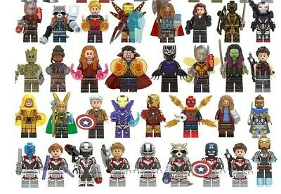 12 pcs Avengers Minifigure Building Blocks Fits Lego Super Hero Iron Man Captain