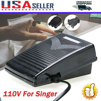 110V Foot Control Pedal For Elna, Janome, Singer Sewing Machine US plug