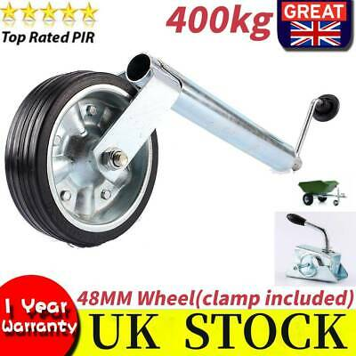 Shaft Jockey Wheel 48mm Tyre Heavy Duty (400Kg)Commercial Trailer Wheel & Clamp