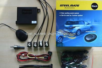 Steelmate Audio Buzzer Reversing Parking Sensors Matt Black 4 sensor Kit PTS410