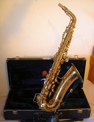 Vintage 1935 Conn Transitional 6M Naked Lady Alto Saxophone – Rolled Tone Holes