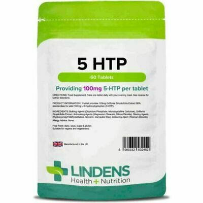 5HTP 100mg Tablets 60 Serotonin Helps Against Stress, Anxiety, Depression 2452