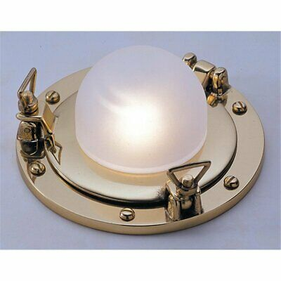 Golden Ceiling Light Made of Brass Glass Small Porthole Ship Lamp Bath Hall