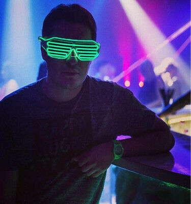 Luminous glasses party performance flash glasses fluorescent dance show blinds L