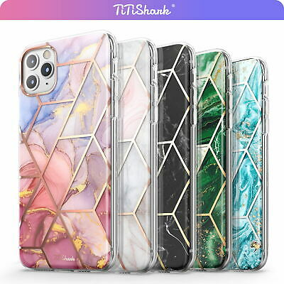 iPhone 11 Pro Max XR XS MAX 8 7 Plus Case TITSHARK Clear Marble Shockproof Cover