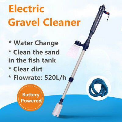 Aquarium Gravel Vacuum Siphon Cleaner Fish Tank Water Change Battery Powered