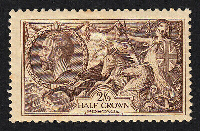 GB KGV SG450 Chocolate-Brown  SEAHORSES  Mounted Mint