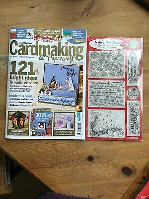 Cardmaking and Papercraft magazine Christmas issue 163 with Stamps