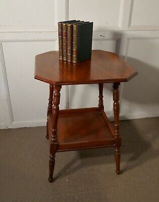 An Edwardian Blonde Mahogany Etagere or Occasional Table