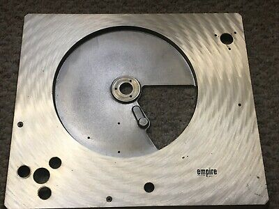 Empire 398 Turntable Parts - Base Plate - Satin Gold