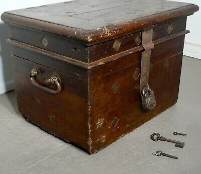 16th Century French Coffer, Oak Silver Treasure Chest, Strong Box