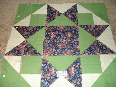 36 LARGE New Pressed Machine Sewn Quilt Squares  Lot  119