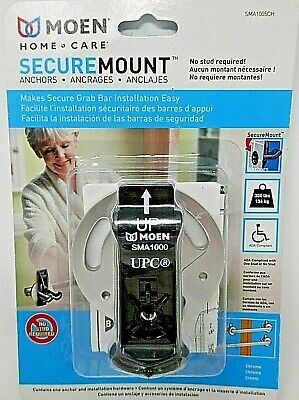 Moen SMA1005CH Home Care Securemount Grab Bar Mounting Anchors Chrome