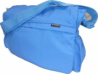 New Babzee Baby Nappy Changing Bag Messenger Bag with Change Mat Blue