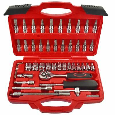 """1/4"""" Drive Metric MM Socket And Accessory Set 46pc 4mm - 14mm  AN041"""