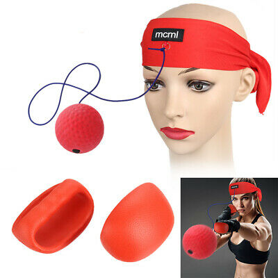 Fight Ball Reflex Boxing Trainer Training Boxer Speed Punch Head Cap String G0Z7